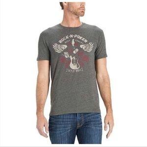 Lucky Brand Size XL Rock N Poker Graphic T Shirt